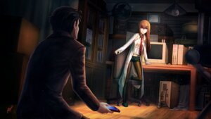 Rating: Safe Score: 31 Tags: makise_kurisu okabe_rintarou pantyhose ranh steins;gate wallpaper User: RyuZU
