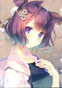 Rating: Questionable Score: 34 Tags: animal_ears cut_a_dash!! fate/grand_order katsushika_hokusai_(fate/grand_order) mitsumi_misato User: kiyoe