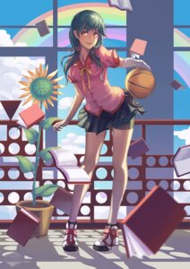 Rating: Safe Score: 31 Tags: bakemonogatari bandages basketball bike_shorts kanbaru_suruga madyy seifuku User: Radioactive