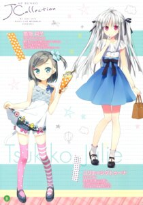Rating: Safe Score: 70 Tags: absolute_duo asaba_yuu dress heels hentai_ouji_to_warawanai_neko kantoku skirt_lift thighhighs tsutsukakushi_tsukiko yurie_sigtuna User: Twinsenzw