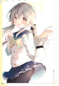 Rating: Questionable Score: 28 Tags: ajitani_hifumi blue_archive pantyhose seifuku shiratama skirt_lift sweater User: Radioactive