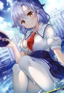 Rating: Safe Score: 55 Tags: high_school_fleet kawano_tsubame pantyhose sanshoku_amido seifuku wet wet_clothes User: fireattack