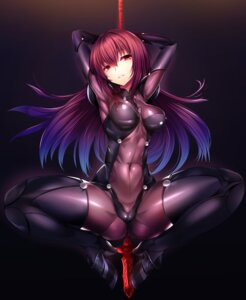 Rating: Questionable Score: 87 Tags: bodysuit erect_nipples fate/grand_order heels scathach_(fate/grand_order) silly weapon User: mash