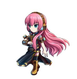 Rating: Safe Score: 15 Tags: chibi headphones megurine_luka thighhighs vocaloid User: saemonnokami