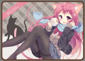 Rating: Safe Score: 45 Tags: animal_ears irone_(miyamiya38) neko nekomimi pantyhose seifuku sweater tail User: Mr_GT