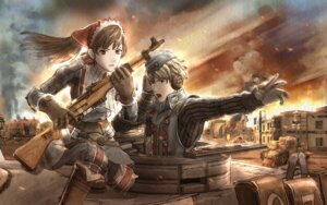 Rating: Safe Score: 13 Tags: alicia_melchiott uniform valkyria_chronicles welkin_gunther User: Radioactive