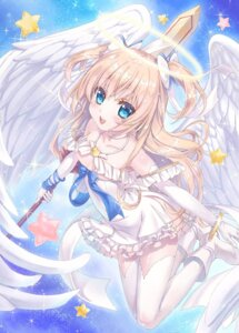 Rating: Safe Score: 35 Tags: angel dress emori_el emori_miku_project heels no_bra sword taue_shunsuke thighhighs wings User: saemonnokami