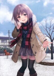 Rating: Safe Score: 60 Tags: fukahire_sanba ruinon sweater thighhighs User: Twinsenzw