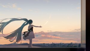 Rating: Safe Score: 37 Tags: dress hatsune_miku landscape thighhighs vocaloid yyb User: Dreista
