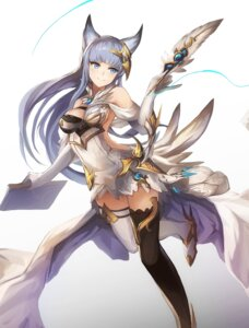 Rating: Questionable Score: 67 Tags: animal_ears eruthika granblue_fantasy korwa no_bra thighhighs User: nphuongsun93