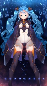 Rating: Safe Score: 52 Tags: bodysuit hoko_sakuran mecha_musume see_through thighhighs User: KazukiNanako