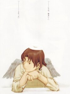 Rating: Safe Score: 3 Tags: abe_yoshitoshi haibane_renmei nemu wings User: Davison