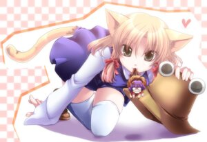 Rating: Safe Score: 27 Tags: animal_ears chibi moriya_suwako shinolion tail thighhighs touhou yasaka_kanako User: sunecchi