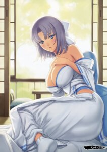 Rating: Questionable Score: 6 Tags: ass breast_hold cleavage eiwa no_bra open_shirt screening senran_kagura tagme yukata yumi_(senran_kagura) User: Radioactive