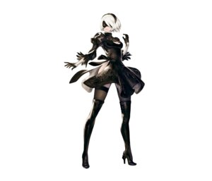 Rating: Safe Score: 90 Tags: cleavage dress eyepatch heels nier_automata thighhighs yorha_no.2_type_b yoshida_akihiko User: Radioactive