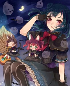 Rating: Safe Score: 13 Tags: animal_ears beniko08 chibi dress kunikida_hanamaru kurosawa_ruby love_live!_sunshine!! tail tsushima_yoshiko witch User: Mr_GT