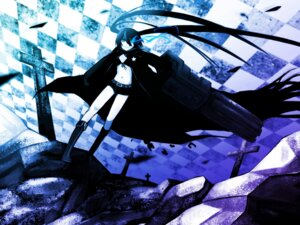 Rating: Safe Score: 7 Tags: black_rock_shooter black_rock_shooter_(character) kawazu vocaloid wallpaper User: charunetra