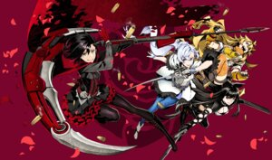 Rating: Safe Score: 15 Tags: blake_belladonna cleavage dress heels miwa_shirow pantyhose ruby_rose rwby sword thighhighs weapon weiss_schnee yang_xiao_long User: animeprincess