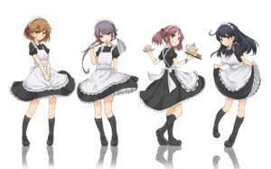 Rating: Safe Score: 27 Tags: bandaid cassandra_(seishun_katsu_sando) kantai_collection maid skirt_lift User: KazukiNanako