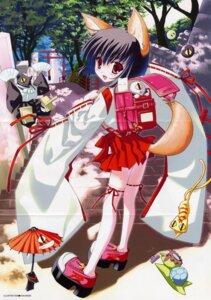 Rating: Safe Score: 9 Tags: crease kitsune kokonobi miko User: admin2