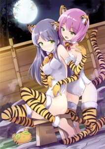 Rating: Questionable Score: 22 Tags: animal_ears onsen tail thighhighs towel usatsuka_eiji User: kiyoe