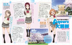 Rating: Safe Score: 25 Tags: digital_version jpeg_artifacts love_live!_sunshine!! murota_yuuhei sakurauchi_riko seifuku takami_chika watanabe_you User: prismarine