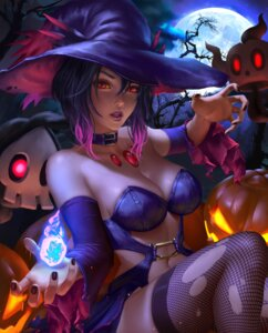 Rating: Safe Score: 42 Tags: anthropomorphization cleavage dress fishnets halloween logan_cure mismagius pokemon thighhighs torn_clothes witch User: charunetra