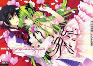 Rating: Questionable Score: 20 Tags: araiguma breast_grab c.c. code_geass crease dress fixme lelouch_lamperouge pink wedding_dress User: Radioactive