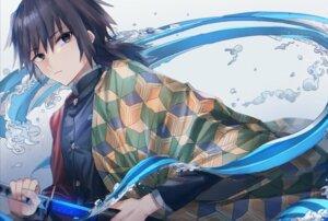 Rating: Questionable Score: 10 Tags: japanese_clothes kimetsu_no_yaiba male oyuyu sword tomioka_giyuu uniform User: Arsy
