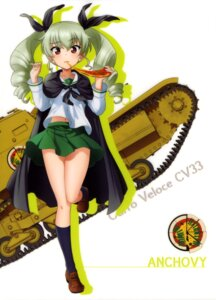Rating: Safe Score: 30 Tags: anchovy girls_und_panzer seifuku silhouette User: drop