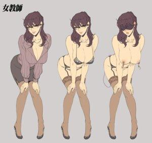 Rating: Questionable Score: 33 Tags: bra character_design cleavage garter_belt heels megane naked nipples oda_non pantsu stockings tagme thighhighs vibrator User: Radioactive