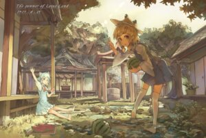 Rating: Safe Score: 36 Tags: cirno huanxiang_heitu moriya_suwako touhou User: blooregardo
