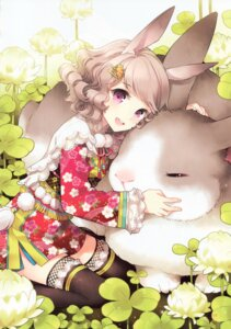 Rating: Safe Score: 100 Tags: animal_ears butterfly_dream nardack thighhighs User: yong