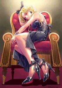 Rating: Safe Score: 18 Tags: dress gun heels minami_seira no_bra User: Mr_GT