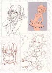 Rating: Questionable Score: 7 Tags: akahito fate/grand_order female_protagonist_(fate/grand_order) sketch User: kiyoe