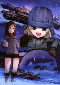 Rating: Safe Score: 16 Tags: girls_und_panzer katyusha nogami_takeshi nonna uniform User: drop