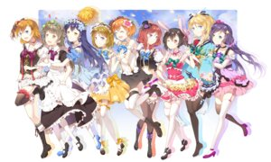 Rating: Safe Score: 33 Tags: ayase_eli dress garter heels hoshizora_rin koizumi_hanayo kousaka_honoka love_live! minami_kotori mo_moye nishikino_maki sonoda_umi stockings thighhighs toujou_nozomi yazawa_nico User: Radioactive