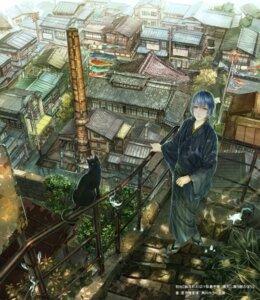 Rating: Safe Score: 11 Tags: landscape male munashichi neko User: blooregardo