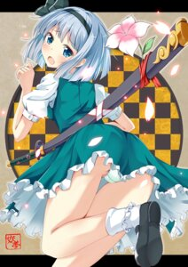 Rating: Questionable Score: 40 Tags: konpaku_youmu ok-ray pantsu sword touhou User: 椎名深夏