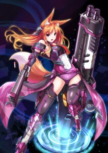 Rating: Safe Score: 69 Tags: animal_ears bodysuit fatke gun kitsune mecha_musume tail weapon User: 椎名深夏