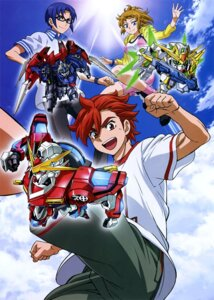 Rating: Safe Score: 6 Tags: bike_shorts cleavage gun gundam gundam_build_fighters gundam_build_fighters_try hoshino_fumina kamiki_sekai kousaka_yuuma mecha megane User: drop