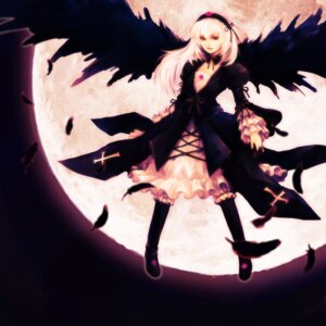 Rating: Safe Score: 14 Tags: hironox rozen_maiden suigintou wings User: charunetra
