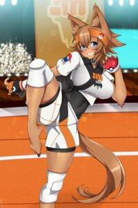 Rating: Safe Score: 11 Tags: animal_ears bodysuit cosplay lindaroze monster_girl monster_musume_no_iru_nichijou pokemon polt saitou_(pokemon) tail User: dick_dickinson