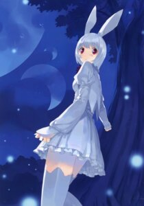 Rating: Safe Score: 30 Tags: alice_in_wonderland animal_ears bunny_ears dress fancy_fantasia march_hare thighhighs ueda_ryou User: fireattack