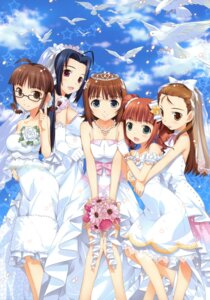 Rating: Safe Score: 31 Tags: akizuki_ritsuko amami_haruka dress fujima_takuya minase_iori miura_azusa takatsuki_yayoi the_idolm@ster the_idolm@ster_break! wedding_dress User: crim