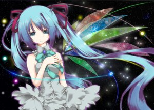 Rating: Safe Score: 19 Tags: hatsune_miku vocaloid wings yuuki_kira User: charunetra