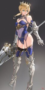Rating: Safe Score: 35 Tags: armor artoria_pendragon_(lancer) cleavage fate/grand_order heels leotard stockings thighhighs weapon yang-do User: hiroimo2