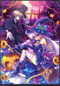 Rating: Safe Score: 23 Tags: capura.l eternal_phantasia halloween thighhighs witch User: fireattack