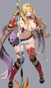 Rating: Questionable Score: 8 Tags: armor blood breast_hold breasts granblue_fantasy jeongjae_(jj) no_bra nopan thighhighs torn_clothes wardrobe_malfunction weapon zeta_(granblue_fantasy) User: Dreista