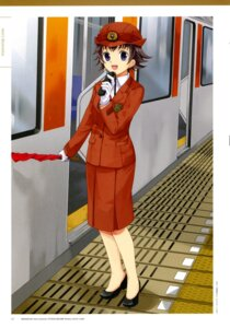 Rating: Safe Score: 4 Tags: kurihashi_minami mibu_natsuki police_uniform tetsudou_musume User: fireattack